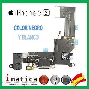 CONECTOR-CARGA-IPHONE-5S-COLOR-NEGRO-BLANCO-FLEX-POWER-JACK-AURICULAR-MICROFONO
