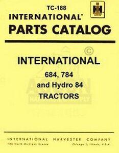 International-684-784-Hydro-84-Parts-Catalog-Manual-IH