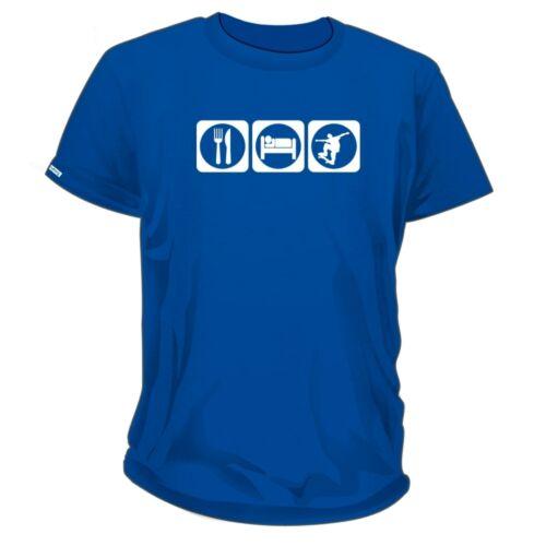 Skateboard Unisex T-Shirt Eat Sleep