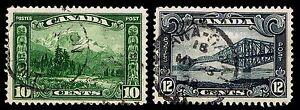 CANADA #156-57 USED COMMEMORATIVE ISSUES OF 1929 - VF - $20.00 (ESP#9672)