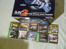PS2 PS1 BOXED MC MADCATZ RACING WHEEL & GAME LOT GRAN TURISMO G2 NEED FOR SPEED