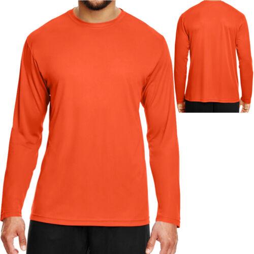 BIG MENS Long Sleeve Base Layer T-Shirt Moisture Wicking  2X 3X 4X NEW
