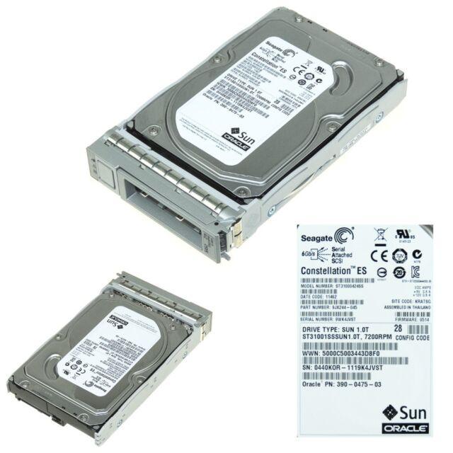 "SUN 390-0414-03 ST31000NSSUN1.0T 1.0TB 7.2K 3.5/"" SATA 9CA158-145 HARD DRIVE"