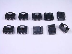 100 pieces Headers /& Wire Housings 6+6 PIN DIL VERTICAL GOLD+TIN SOCKET