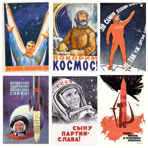BIG Soviet SPACE Astronauts Cosmos Lot 22 PCS Postcard GAGARIN Tereshkova USSR