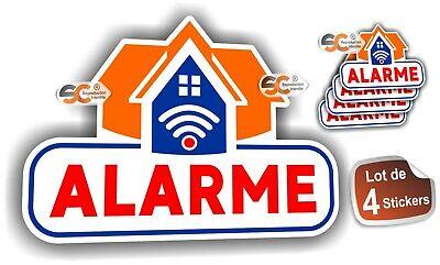Sticker Alarme Vid/éo-Surveillance Autocollant Lot de 4 Stickers Protection Laptop Macbook iphone Samsung Sony