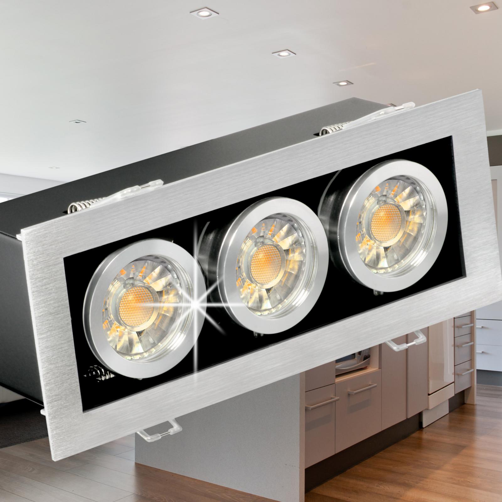 K3 LED-Einbauleuchte Design Strahler 3 Leuchtenköpfe á 5W LED neutralweiß 230V | Bekannt für seine schöne Qualität  | Quality First  | Creative