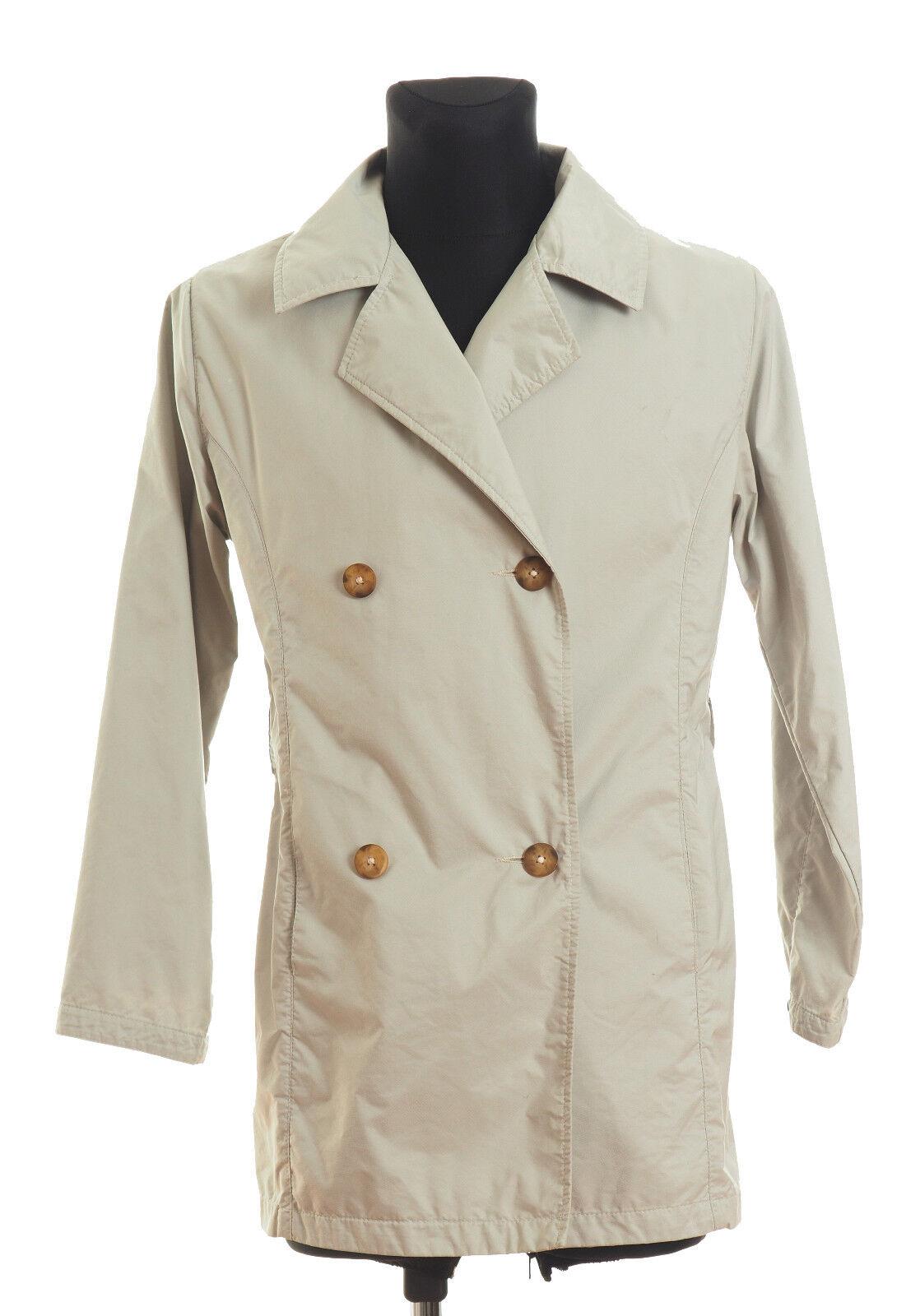 HENRI LLOYD Men's Cream Raincoat Size XS