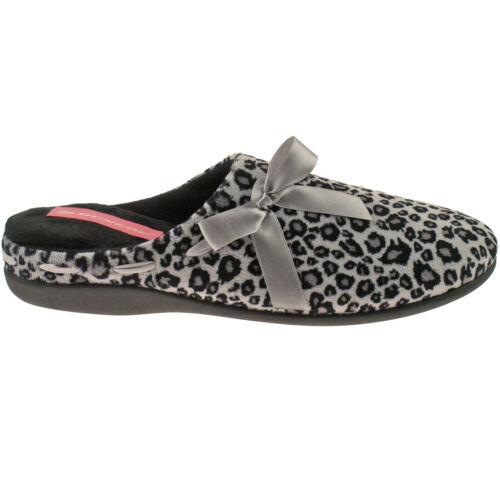 Señoras Dunlop Slip On Mula Zapatillas Talle Uk 3-8 Para Mujer Leopardo dlh7796 dlh7787