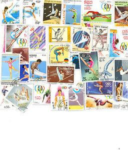 Gymnastique Stamp Colllection 50 Toutes Différentes Questions Internationales/medium/large-afficher Le Titre D'origine Soulager La Chaleur Et La Soif.