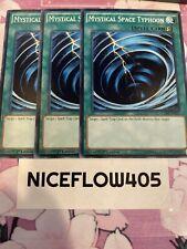 x3 SDWS-EN023 Mystical Space Typhoon 1st Edition Mint YuGiOh Card