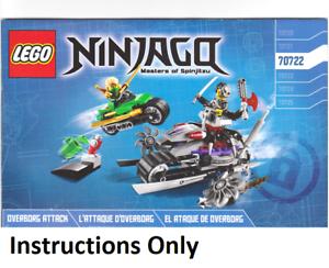 Details Sur Instructions Only Lego Overborg Attaque 70722 Ninjago Manuas Livre D Ensemble