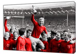 Angleterre Football Équipe Coupe du monde Gagner Wall Art sur différentes tailles toile photo