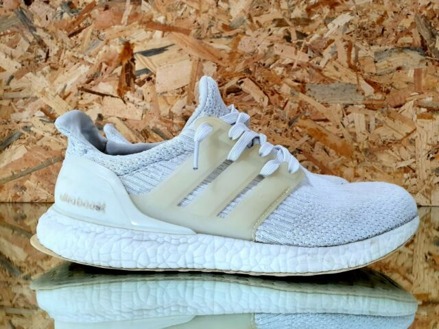 🔥Adidas Ultra Boost 3.0 Triple White Running Shoes Men's Sneakers Size 8.5 US🔥