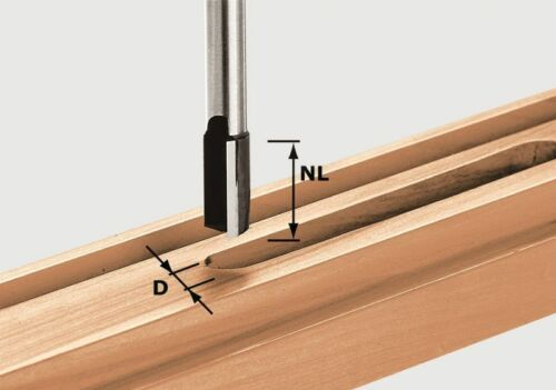 bestückte Grundschneide 8mm Schaft ⌀ 9-30mm FESTOOL Hartmetall Nutfräser HW m