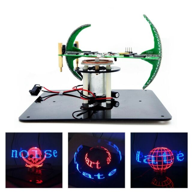 DIY Spherical Rotating 56led Display POV Useful Soldering Welding  Electronic Kit