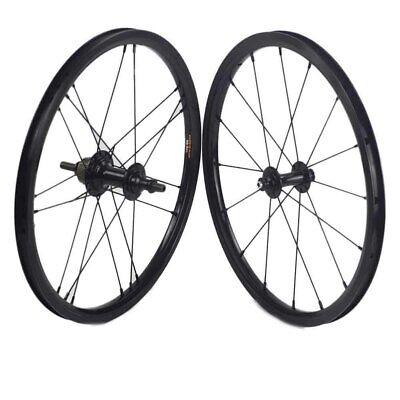 1-3 Speed Rim Brake Rear/& Front 349 Wheels for Brompton 3sixty Folding Bike 800g