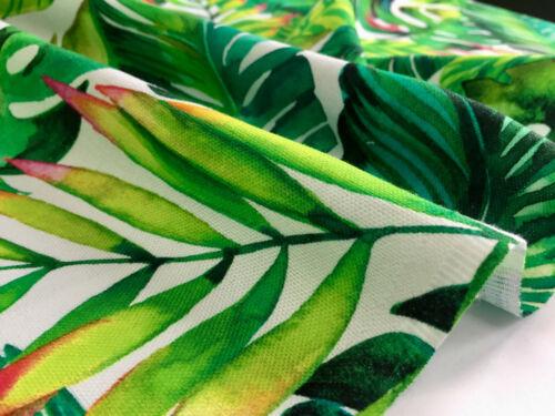 Banane Tropisch Blätter Palm Blatt Stoff Vorhang Kleid Baumwolle 140cm Breit
