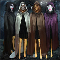 Gothic Witch Velvet Cloak Adult Hooded Cape Halloween Wedding Costume Robe Decor