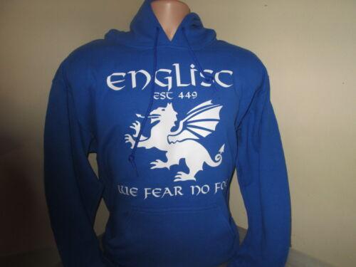 Englisc Pagan England PenDragon We Fear No Foe HOODY SWEATSHIRT ROYAL BLUE