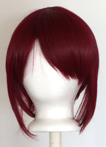 12/'/' Bob Cut Burgundy Red Synthetic Cosplay Wig NEW