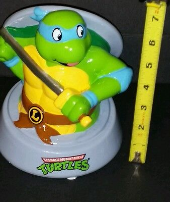 Teenage Mutant Ninja Turtles TMNT LEONARDO Martial Arts Ceramic Coin Bank New