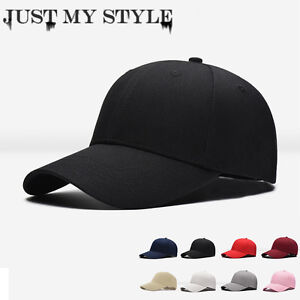 43826dc08b3 Men Women New Black Baseball Cap Snapback Hat Hip-Hop Adjustable ...