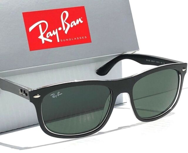 e3086a7700 NEW  Ray Ban Wayfarer Matte Black w Grey Green Sunglass RB 4226 6052