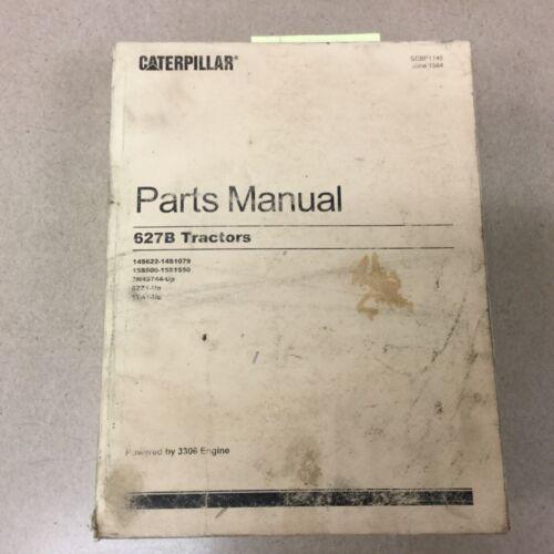 CAT Caterpillar 627B PARTS MANUAL BOOK TRACTOR SCRAPER 14S622-1079 15S900-1550