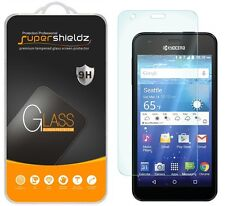 3X Supershieldz Kyocera Hydro Wave Tempered Glass Screen Protector Saver
