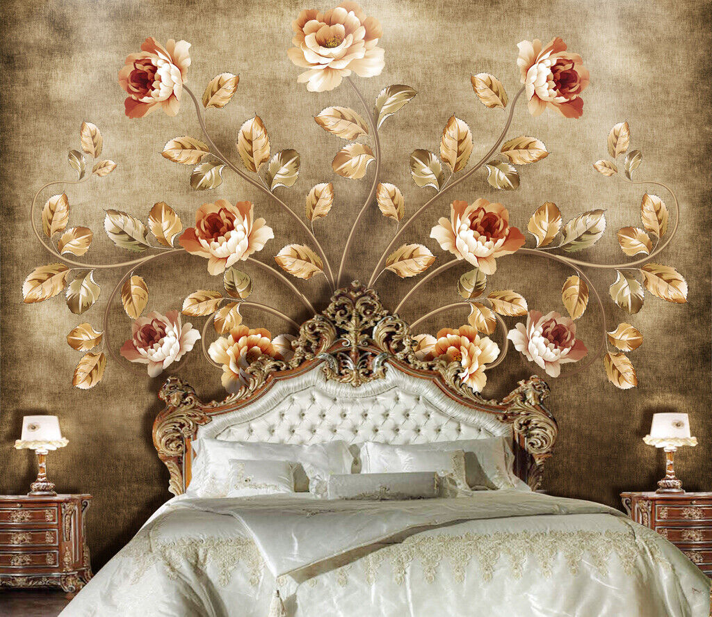 3D Vintage Flower N012 Wallpaper Wall Mural Removable Self-adhesive Sticker Amy