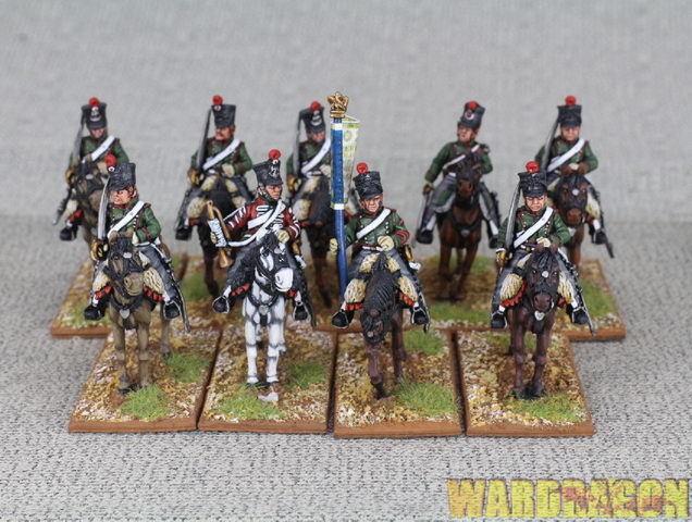 mm protector del joven francés pintado napoleónicas Wds escuadrones p17