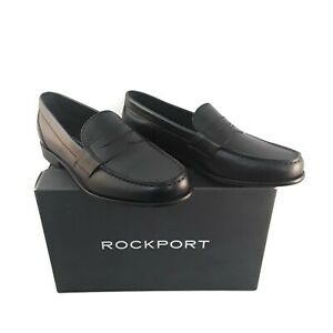 Rockport Penny Loafer Men's Size 8M Black Classic Leather ...