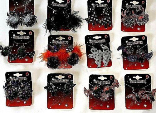 Halloween Earrings Novelty Costume Fancy Dress Party ASSORTED DESIGNS