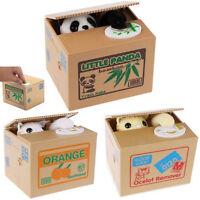 Lovely Stealing Coins Panda Cent Penny Buck Saving Money Box Piggy Bank Gifts