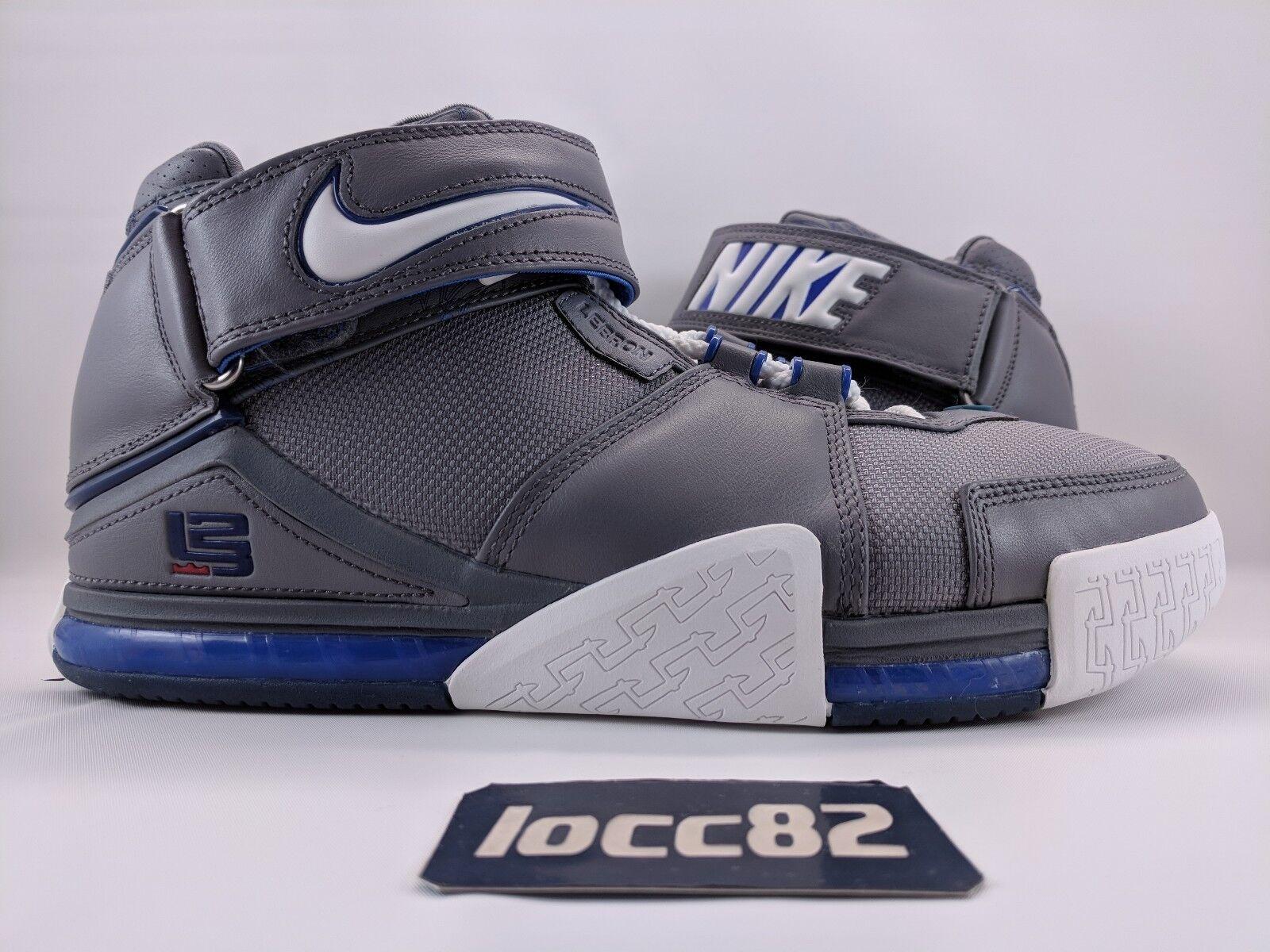 Nike Zoom LeBron II 2 Cool Grey   White - Varsity Royal OG (309378-012) sz 10.5