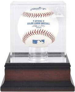 St. Louis Cardinals Mahogany Baseball Logo Display Case