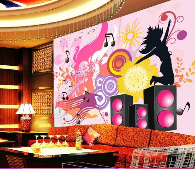 3D Dancing To Music 5 Wall Paper Wall Print Decal Wall Deco Indoor AJ Wall Paper