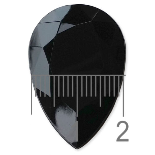 Large 30mm TEARDROP Faceted Acrylic Crystal Rhinestone Embellishment Gem Decoden