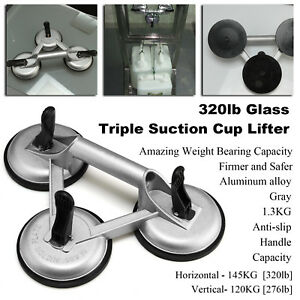 Triple Suction Pad Cup Lifter 100kg Sucker Plate Glass tile Mirror lifter 1