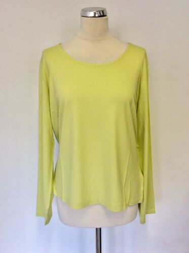 Lime Size Italian Jersey Long Smart Sleeve Artigiano Top 18 Scoop Neck Bnwt 5v4gRnq