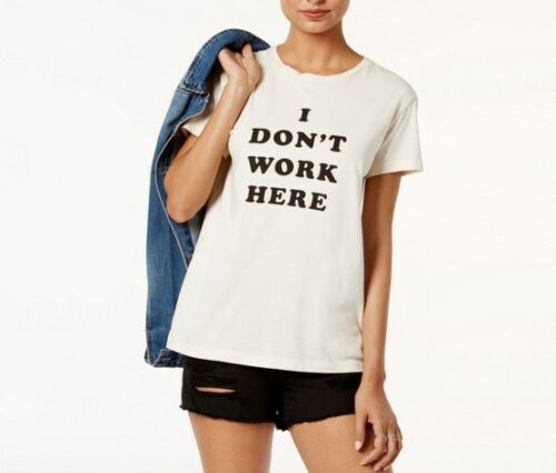 Ban.do Women/'s Cotton I Don/'t Work Here Graphic T-shirt Size XS L  NG77