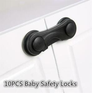 10X Drawer Door Cabinet Fridge Security Protect Lock For Child Baby Kids Saf et
