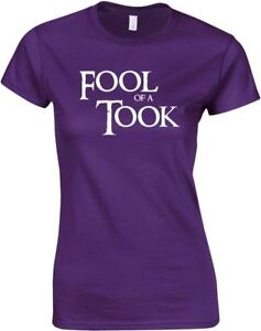 Fool-Of-A-Took-Ladies-Printed-T-Shirt-Women-Casual-Tee-Short-Sleeve-Soft-Top