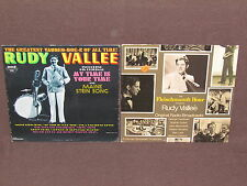 RUDY VALLEE 2 LP RECORD ALBUMS LOT COLLECTION Fleischmann's Hour/My Time Is Your