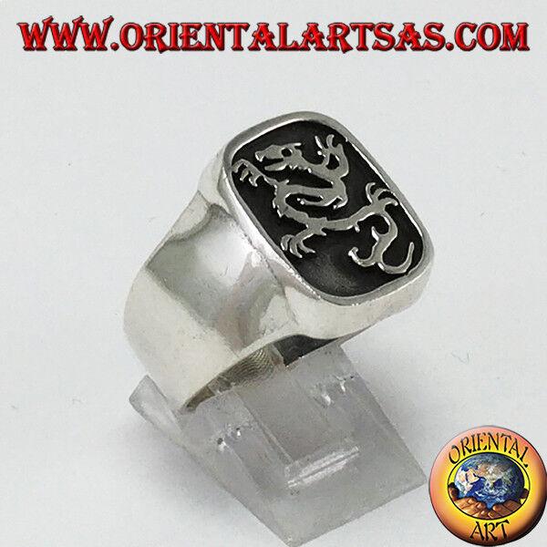 925 silver Ring mit dem Dichtung die Drachen