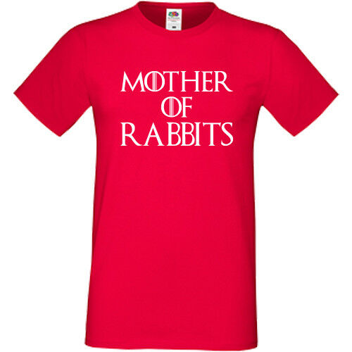 Mother Of Rabbits T-Shirt Tee Womens Unisex Gift Present Animal Pets