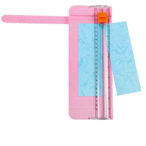 Portable A5 Precision Paper Card Trimmer Cutter Cutting Mat Blade Office Pink HS
