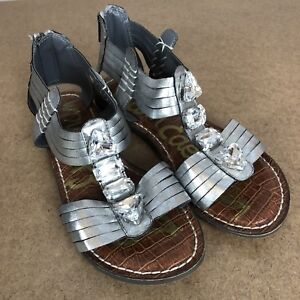 08be90a272b59c Image is loading Sam-Edelman-Women-s-Rhinestone-Gladiator-Sandals-Size-