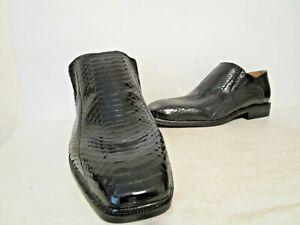Giorgio-Brutini-Mens-Felix-15521-Snakeskin-Plain-Toe-Slip-On-Loafer-Black-8-5-15